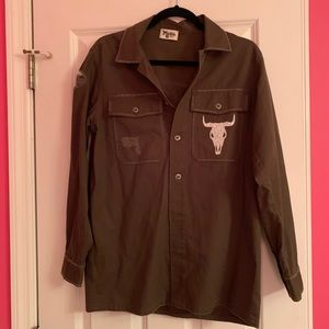 Show Me Your Mumu Army Jacket Olive Bull